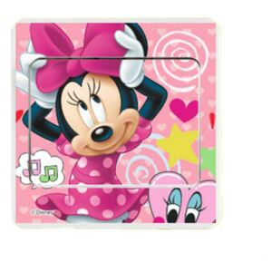 Sticker intrerupator Minnie pink 9x9 cm