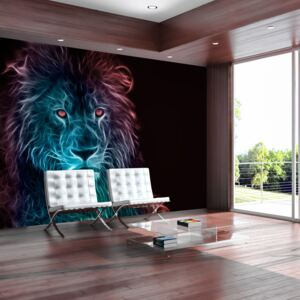 Fototapet Bimago - Abstract lion - rainbow + Adeziv gratuit 200x140 cm