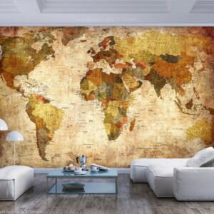 Fototapet Bimago - Old World Map + Adeziv gratuit 200x140 cm