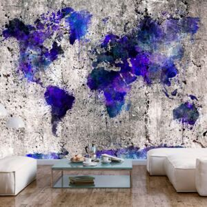 Fototapet Bimago - World Map: Ink Blots + Adeziv gratuit 200x140 cm