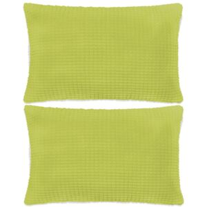 Set perne decorative 2 buc. Velur 40 x 60 cm Verde