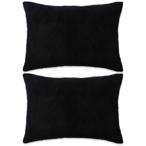 Set perne decorative 2 buc, velur 40 x 60 cm, negru
