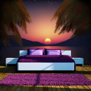 Fototapet Bimago - Romantic evening on the beach + Adeziv gratuit 250x175 cm