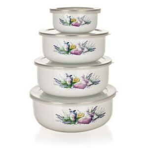 Set boluri emailate Banquet LAVENDER 8 piese