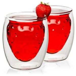 Pahare termo 4home Strawberry HotCool, 250 ml, 2 b