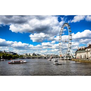Fotografii artistice Landscape of River Thames with London Eye, Philippe Hugonnard