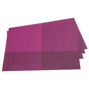 Suport farfurie DeLuxe, violet, 30 x 45 cm, set 4 buc