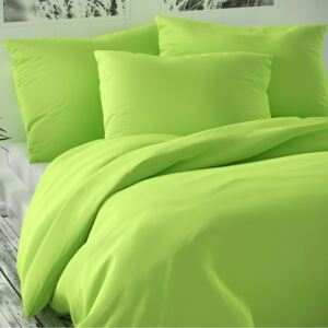 Lenjerie pat 1 pers. Luxury Collection, satin, verde deschis