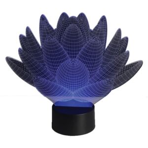 Sharks Lampă LED 3D Floare de lotus
