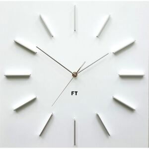 Ceas de perete design Future Time FT1010WH Square white, 40 cm