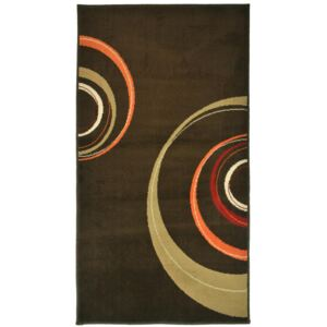 Covor Modern & Geometric Circles Brown, Maro, 60x110