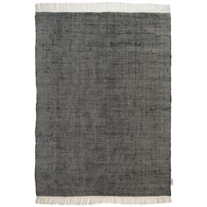 Covor Unicolor Cotton Colors, Bumbac, Negru, 160x230