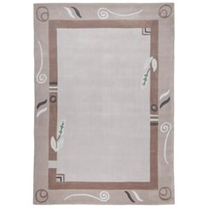 Covor Floral Pyro, Acril, Taupe, 60x90