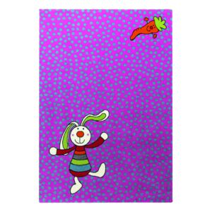 Covor Copii & Tineret Rainbow Rabbit, Mov, 200x290