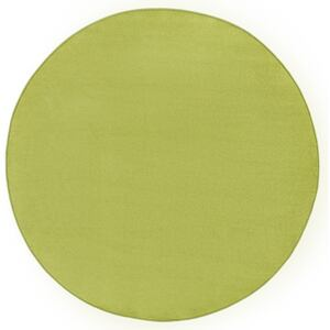 Covor Unicolor Fancy, Rotund, Verde, 133x133