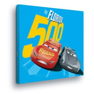GLIX Tablou - Disney Cars McQueen and Jackson Storm II 80x80 cm