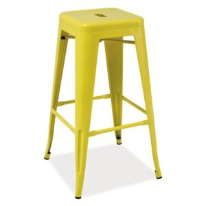 Scaun de bar din metal Long Yellow, l31xA31xH76 cm