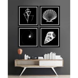 Tablou 4 piese Framed Art Translucent Sea Species