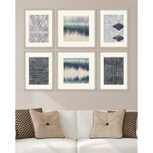 Tablou 6 piese Framed Linen Abstract Textiles