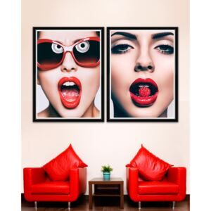 Tablou 2 piese Framed Art Red Glamour