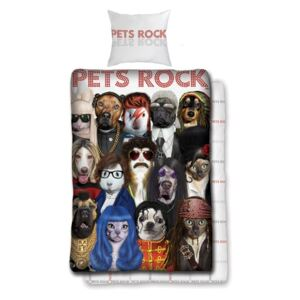 Lenjerie de pat copii Cotton Pets Rock