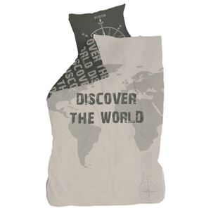 Lenjerie de pat copii Cotton Discover the World