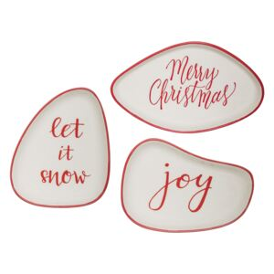 Set 3 Farfurioare Joy Plate, Red