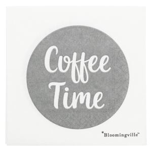 Servetele de hartie 'Coffee Time', Grey/White