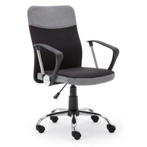 Scaun de birou ergonomic Topic Black / Grey, l57xA60xH94-104 cm