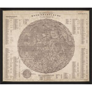 Tablou Framed Art Map Of The Moon 1880