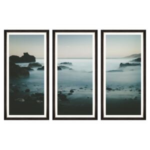 Tablou 3 piese Framed Art Beach At Dawn