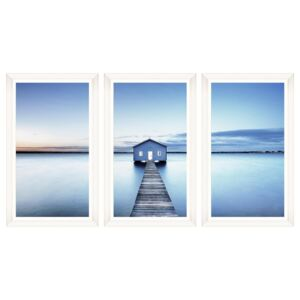 Tablou 3 piese Framed Art The Boathouse
