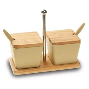 Set recipiente condimente cu suport Eco, 2 buc
