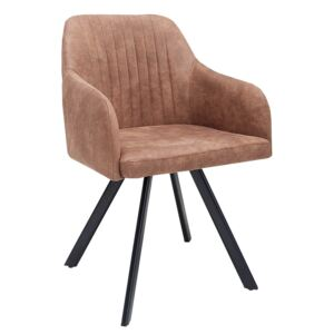 Scaun maro Chair Lucca Vintage Brown | INVICTA INTERIOR