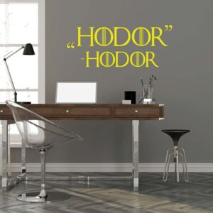 GLIX Game of Thrones Hodor - autocolant de perete Galben 50x20 cm