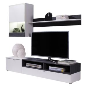 Mobilier living, alb/pin inchis, ROSO