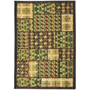 Covor Patchwork Moody, Verde, 133x190