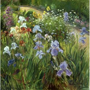 Irises and Oxeye Daisies, 1997 Reproducere, Timothy Easton