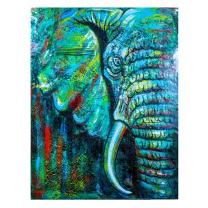 Tablou Prosperity Elephant Green, XL