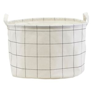 Cos alb din bumbac 40x25 cm Squares House Doctor