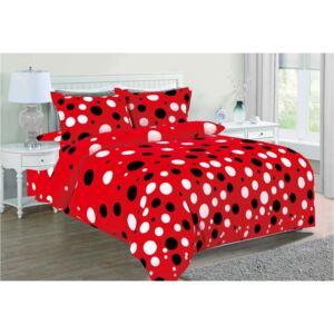 Lenjerie de pat Cocolino set CCL55 Red Dots