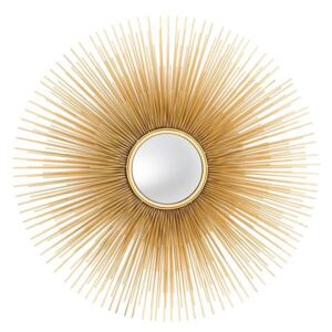 Oglinda decorativa aurie Ø 80 cm Solaris Gold Large