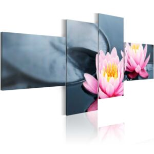 Tablou Bimago - The Tranquillity Of The Lilies 100x45 cm