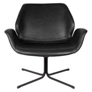 Fotoliu din piele ecologica Lounge Chair Nikki All Black