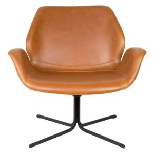 Fotoliu din piele ecologica Lounge Chair Nikki All Brown
