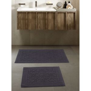 Set 2 covorase baie bumbac 100%, Class home, Pera Gri Antracit