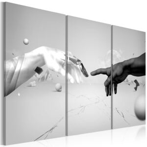 Tablou Bimago - Touch in black-and-white 60x40 cm