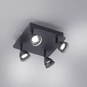 Trio 850010432 WiZ Connected GEMINI negru mat metal incl. 4 x SMD, 3W, 3000 - 5000K, 300Lm 300lm IP20 A+