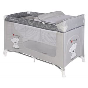 Lorelli - Pat pliant Moonlight, 2 nivele, Grey My Teddy