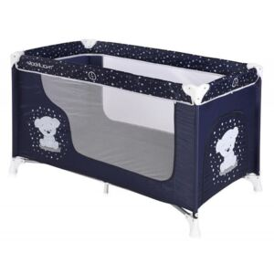 Lorelli - Pat pliant Moonlight, 1 nivel, Dark Blue Teddy Bear